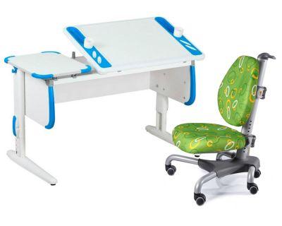 Комплект ДЭМИ Парта Techno СУТ 31 с креслом Nobel и прозрачной накладкой на парту 65х45