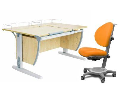 Комплект ДЭМИ Парта СУТ-17-01 120х80 см с креслом Cambridge и прозрачной накладкой на парту 65х45