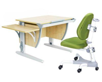 Комплект ДЭМИ Парта СУТ 14К с креслом Champion и прозрачной накладкой на парту 65х45