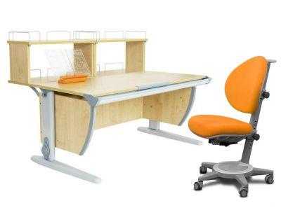 Комплект ДЭМИ Парта СУТ 15-01Д2 с креслом Cambridge и прозрачной накладкой на парту 65х45
