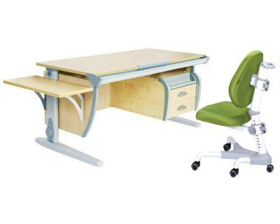 Комплект ДЭМИ Парта СУТ 15-03К с креслом Champion и прозрачной накладкой на парту 65х45