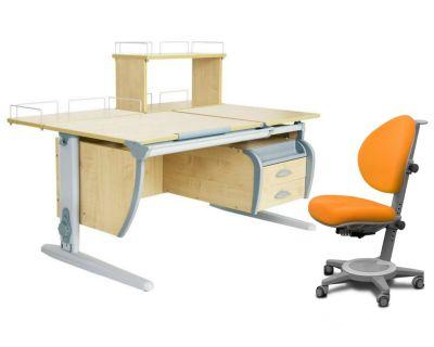 Комплект ДЭМИ Парта СУТ 17-04Д с креслом Cambridge и прозрачной накладкой на парту 65х45