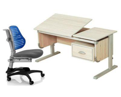 """Комплект ДЭМИ Парта """"Ученик"""" сут-29 с креслом Oxford C3 и прозрачной накладкой на парту 65х45"""