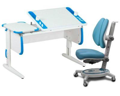 Комплект ДЭМИ Парта Techno СУТ 31 с креслом Stanford Duo и прозрачной накладкой на парту 65х45