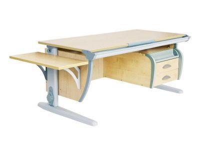 Комплект ДЭМИ Парта СУТ 15-03К с креслом Match Chair и прозрачной накладкой на парту 65х45
