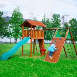 Детский городок Jungle Cottage + Climb Module X'tra