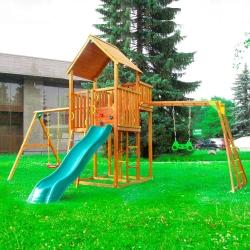 Детский городок Jungle Palace + Swing X'tra + рукоход c гимнастическими кольцами