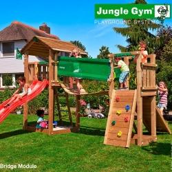 Детский городок Jungle Cottage + Bridge Module