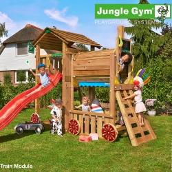 Детский городок Jungle Cottage + Train Module