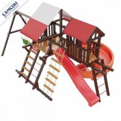 Детская деревянная игровая площадка Самсон Таити Люкс