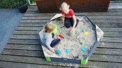 Песочница шестиугольная Exit toys Акцент 160 x 140 см