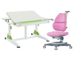 Комплект TCT Nanotec Парта G6+XS с компьютерным креслом Ego (Ergo-Elite) и прозрачной накладкой на парту 65х45