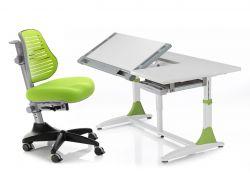 Комплект Comf-pro Парта King Desk с компьютерным стулом Conan и прозрачной накладкой на парту 65х45