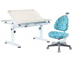Комплект TCT Nanotec Парта R6-XS с креслом Ergo-BABO и прозрачной накладкой на парту 65х45