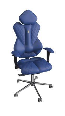 Роскошное кресло Kulik Royal Blue (индивидуальная прошивка Design, 3D подголовник)
