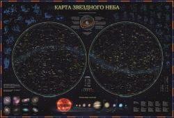 """Детская ламинированная карта Globen """"Звездного неба"""" 59х42"""