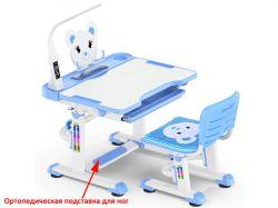 Комплект парта и стульчик Mealux BD-04 New XL Teddy (с лампой)