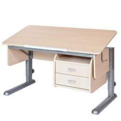 Письменный стол для школьника Астек МОНО-2 с ящиками и полками