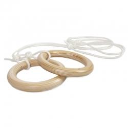 Кольца гимнастические деревянные KIDWOOD