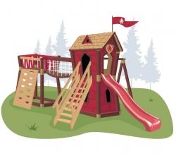 Игровой комплекс для детей Crooked Junior Red Castle
