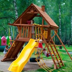 Детский дачный комплекс Новый рассвет Зарница с деревянной крышей