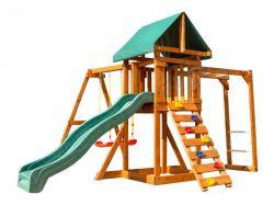 Игровая площадка Babygarden с рукоходом, скалолазкой и горкой 2.4м