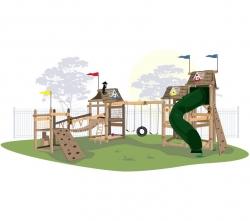 Игровой комплекс для детей Crooked «Тропический угловой»